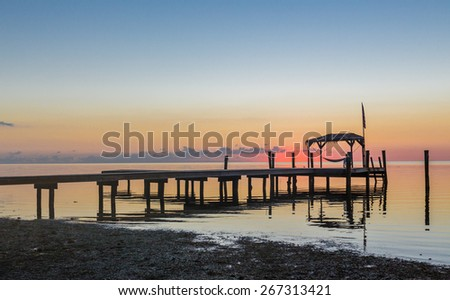 Almost sunrise in Key west, Florida - stock photo