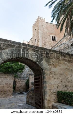 Almudaina  of Palma de Mallorca in Majorca Balearic island - stock photo