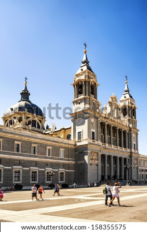 Almudena Cathedral, Madrid, Spain  - stock photo
