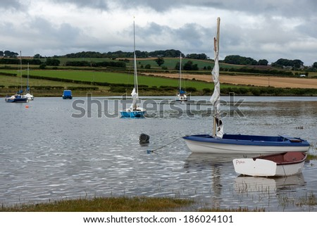 ALNMOUTH, NORTHUMBERLAND/UK - AUGUST 17 : Scenic view of the River Aln at Alnmouth Northumberland on August 17, 2010