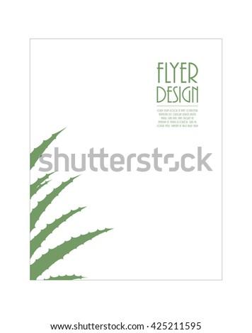 Aloe Vera flyer - stock photo