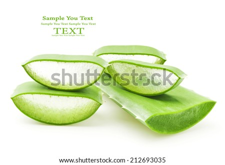 aloe vera fresh leaf - stock photo