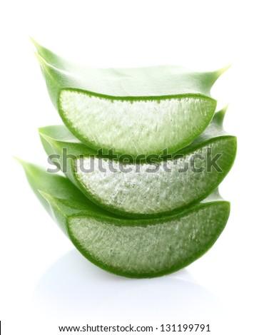 Aloe vera slice - stock photo