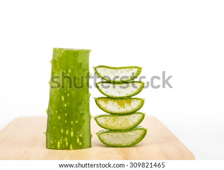 Aloe Vera. Thailand's traditional medicinal plants. - stock photo