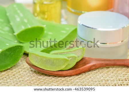 Aloe Vera use in spa for skin care and cosmetic