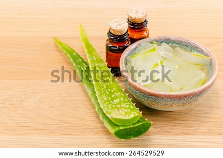 Aloevera - Natural Spas Ingredients for skin care. - stock photo