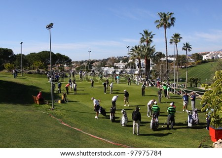 ALOHA GOLF COURSE, MARBELLA, SPAIN - MARCH 14 :   at Andalucia Open, Golf European Tour, March 14, 2012, at  Alhoa Golf Club, Marbella, Spain.