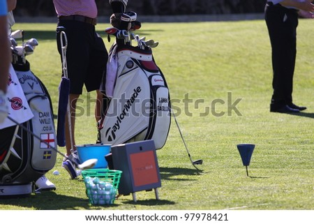 ALOHA GOLF COURSE, MARBELLA, SPAIN - MARCH 14 :  Miguel Angel Jimenez (SPA) at Andalucia Open, Golf European Tour, March 14, 2012, at  Alhoa Golf Club, Marbella, Spain.