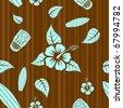 Aloha seamless pattern - stock vector