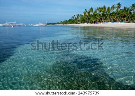 Alona beach at Panglao Island, Philippines. - stock photo