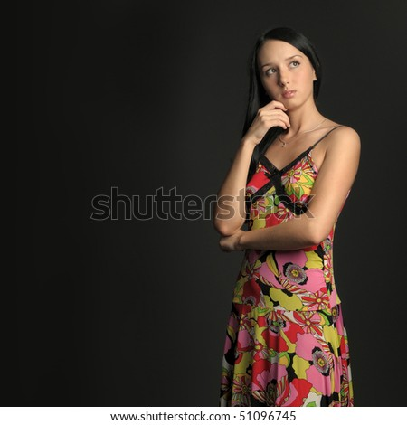 Alone in the dark - stock photo