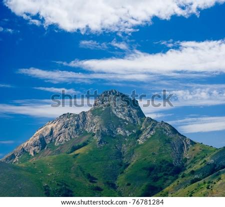 alone mountain - stock photo