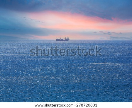alone ship in a sea