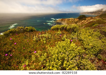 Along highway 1 in southern California. - stock photo