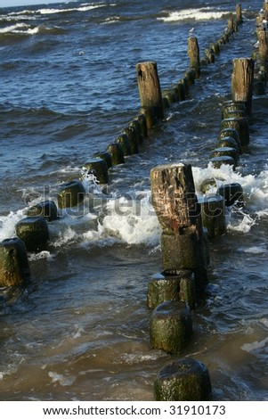 Along the Baltic Sea in Germany - stock photo