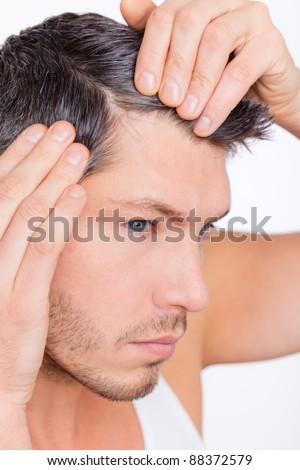 alopecia - stock photo