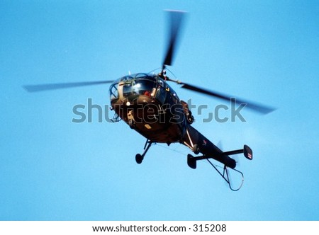 Alouette Helicopter - stock photo