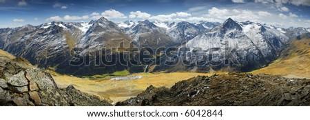 Alpen Panorama - stock photo