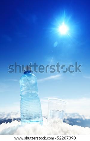 alpen water - stock photo