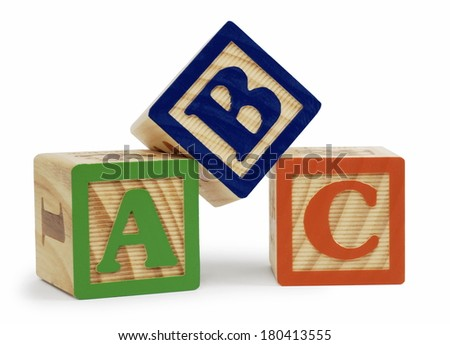 alphabet blocks - stock photo