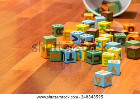 alphabet blocks - stock photo