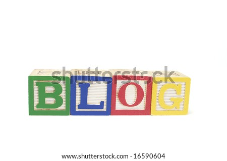 Alphabet Blocks - Blog on White background - stock photo