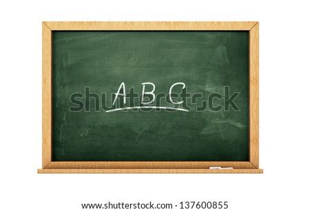 Alphabet chalkboard - stock photo