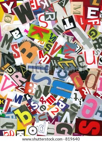 Alphabet chaos - stock photo