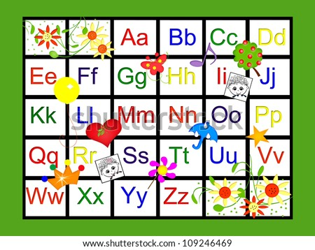 Alphabet Charts With Pictures Alphabet Chart
