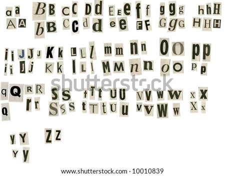 Newspaper Letters Stock Images, Royalty-Free Images & Vectors ...