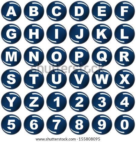 Alphabet. 3d render illustration - stock photo