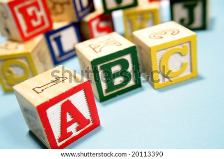 Alphabet learning blocks - stock photo