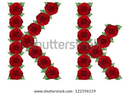 K Letter In Rose Alphabet k in Rose Alphabet Letter k Made From