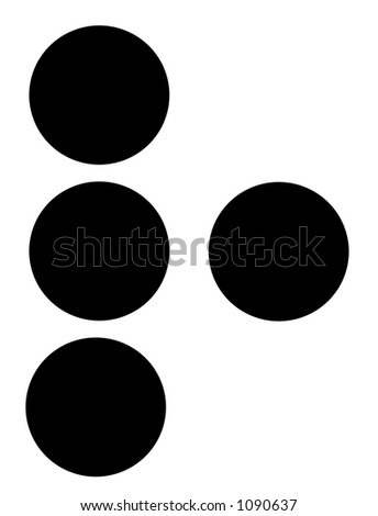 alphabet letter r in braille - stock photo