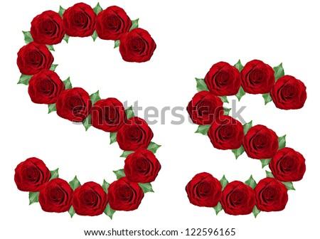 S Alphabet In Rose Alphabet. Lette...
