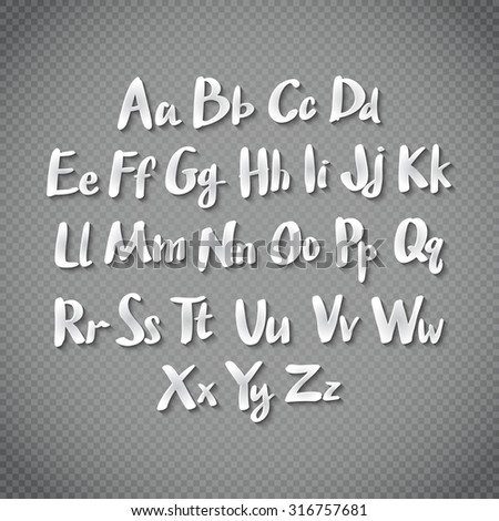 Alphabet letters. Hand drawn illustration by inc. art - stock photo