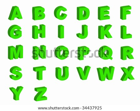 Alphabet letters in silhouette as symbol of language
