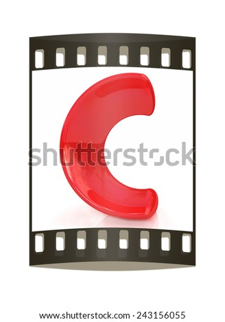 "Alphabet on white background. Letter ""C"" on a white background. The film strip - stock photo"