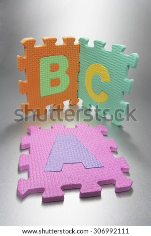 Alphabet Puzzle - stock photo