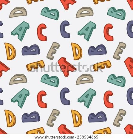 alphabet seamless background - stock photo