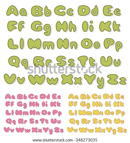alphabet set with color variations. JPG version - stock photo
