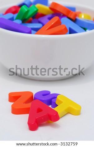 Alphabet soup - stock photo