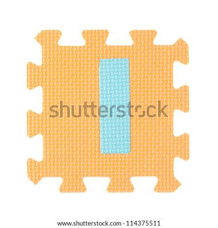 Alphabet toy piece isolated on white background - stock photo