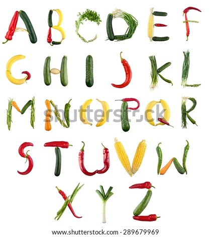Vegetable Alphabet Stock Images, Royalty-Free Images & Vectors ...