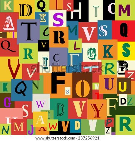 Alphabet Wallpaper Pattern Stock Illustration 237256921