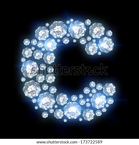 C Letter In Diamond Stock Images si...