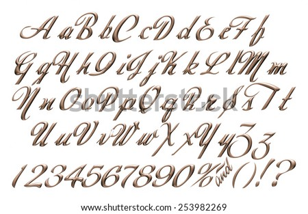 Big Small Letters Alphabet Digits Made Stock Illustration ...