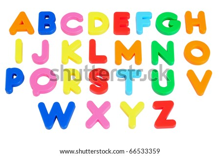 Alphabets. Isolated - stock photo