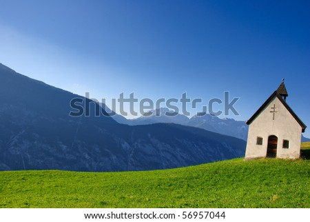 alpin chapel (tirol) - stock photo