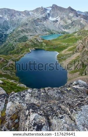 alpin lake - stock photo